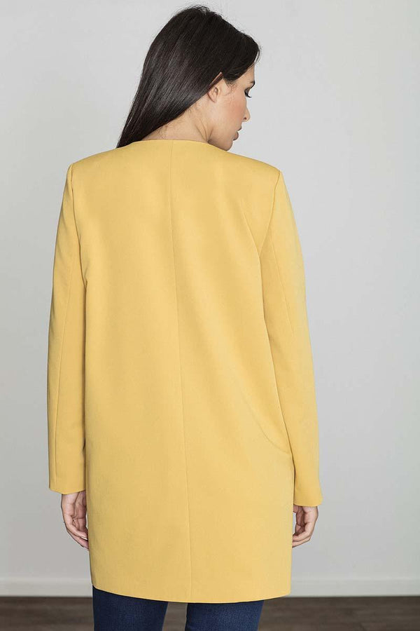 Yellow Figl Jackets & Coats - Favshion