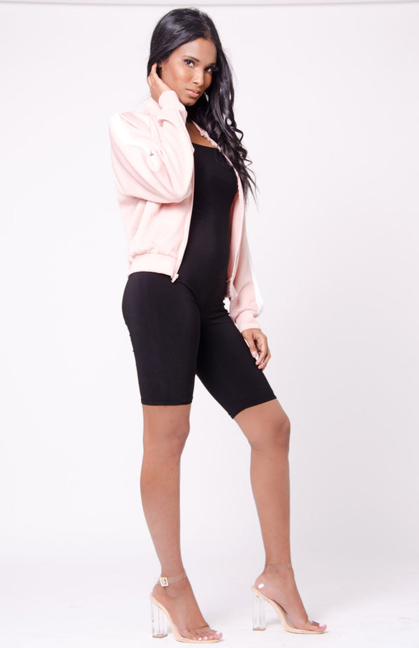 Zip Up Bomber Jacket - Favshion