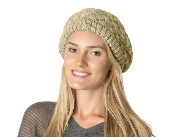 Womens Basket Beanie Beret Hat Lined - Favshion