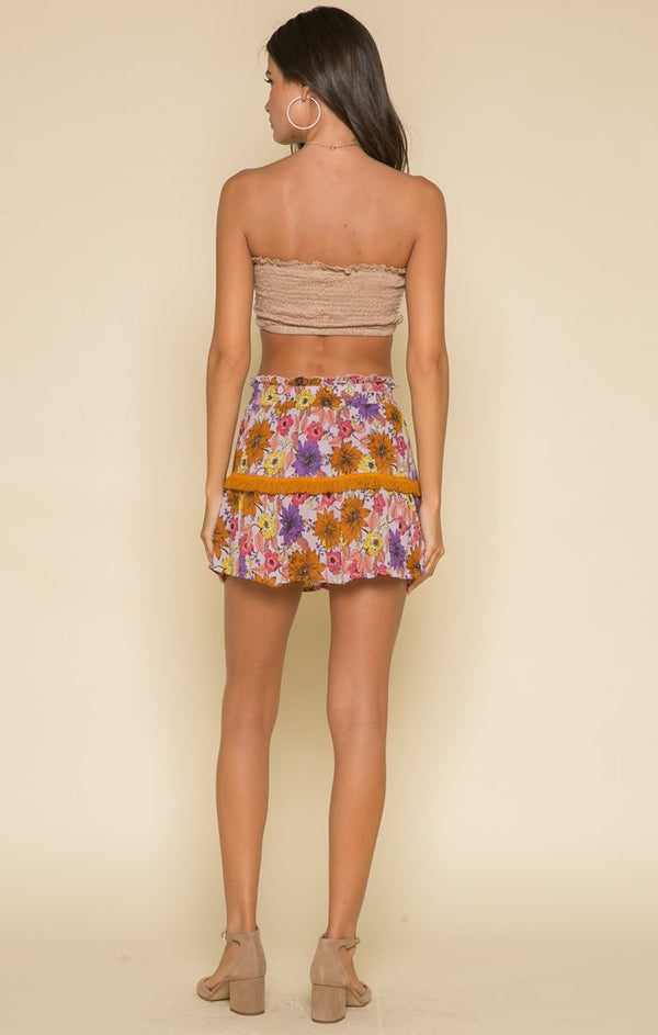 Wild Gardens Mini Skirt - Favshion