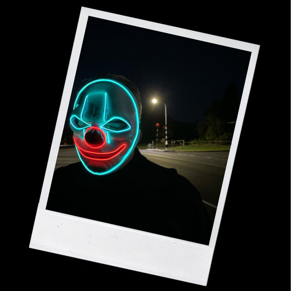 Flashing LED Clown Mask