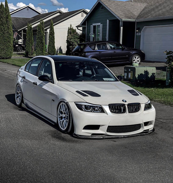 BMW Carbon Fiber Style Side Skirt Extentions