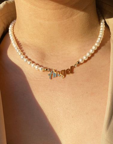 ANGEL ENERGY PEARL NECKLACE