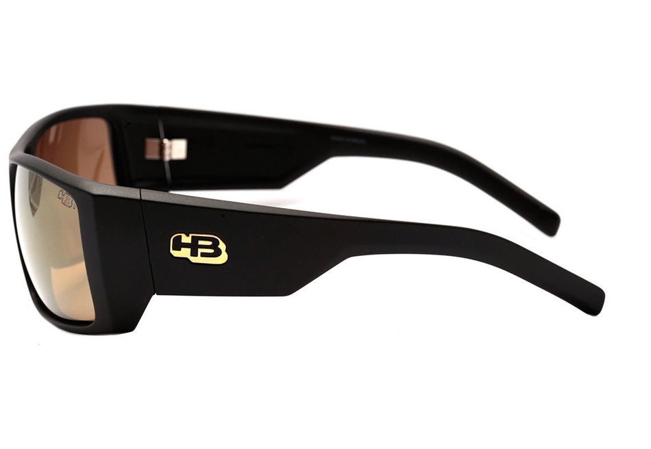 Óculos de Sol HB Rocker 2.0 Matte Black / Gold Chrome Unico - Lente 6,1 cm