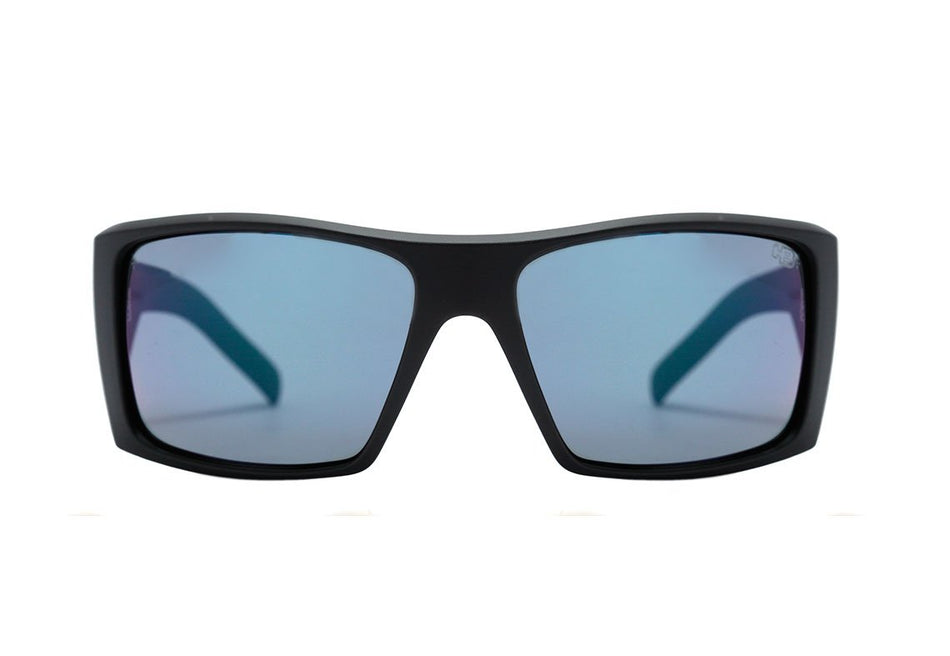 Óculos de Sol HB Rocker 2.0 Matte Black / Blue Chrome Unico - Lente 6,1 cm