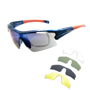 Óculos de Ciclismo Speedo PRO 3 5 Lentes D01 BLUE SHINE/ MULTI COLOR/ GRAY/ G15/ YELLOW/ TRANSPARENT UNICO