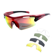 Óculos de Ciclismo Speedo PRO 3 5 Lentes T01 RED SHINE/ MULTI COLOR POLARIZED/ GRAY/ G15/ YELLOW/ TRANSPARENT UNICO