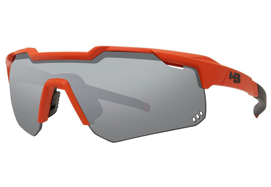 Óculos De Sol Hb Shield Mountain MATTE ORANGE/ SILVER UNICO