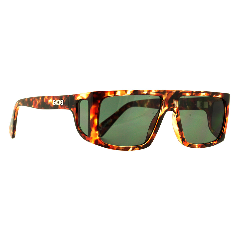 Óculos de Sol Evoke B-Side G22 Turtle Shine Gold/ Light Green Lente 5,8 cm