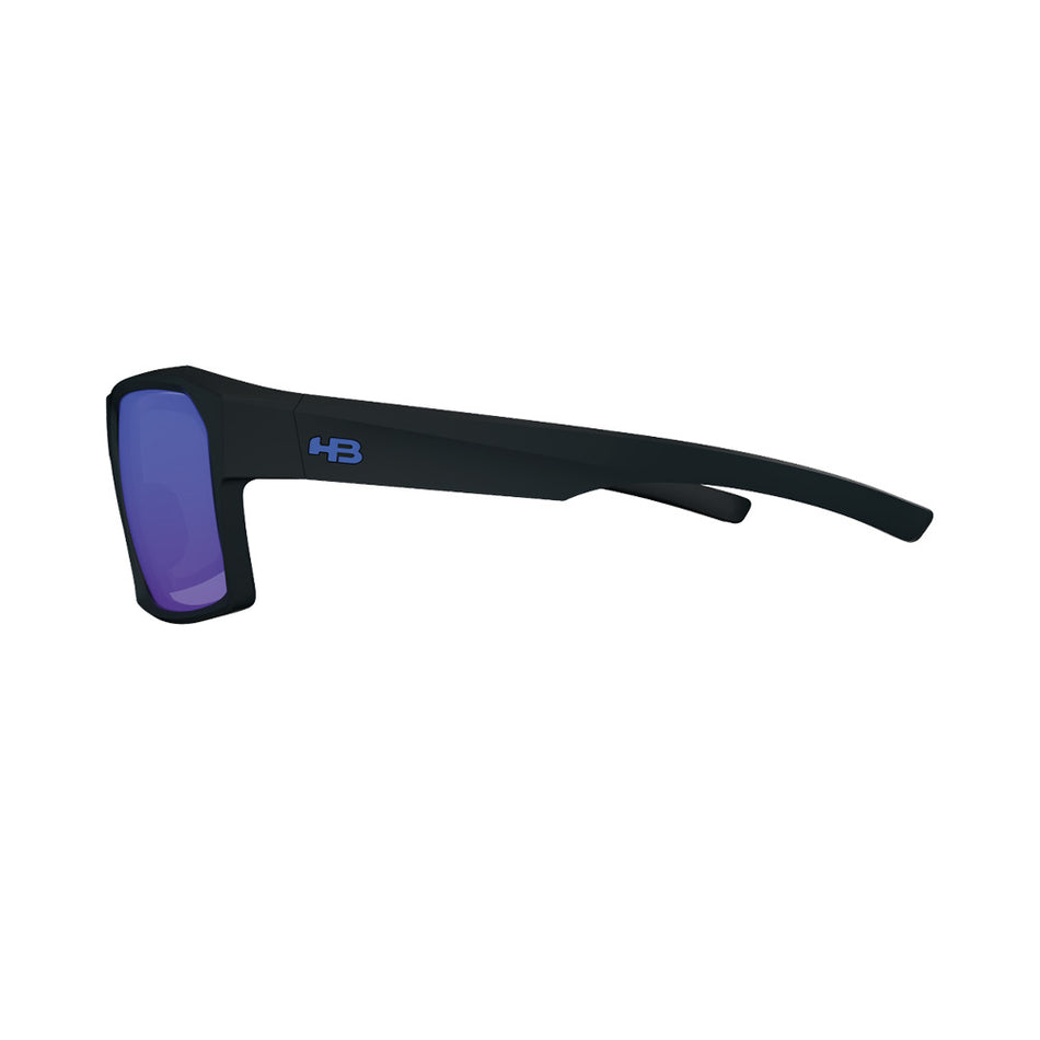 Óculos de Sol HB Split Carvin Matte Black D. Blue/ Blue Polarized UNICO