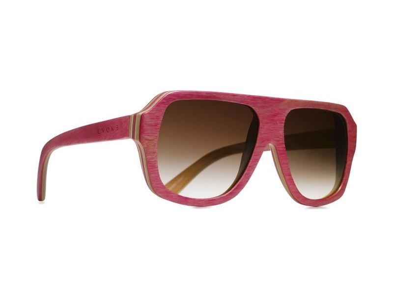 Óculos de Sol Evoke Wood Series 01 Madeira Maple Collection - Pink/ Brown Degradê