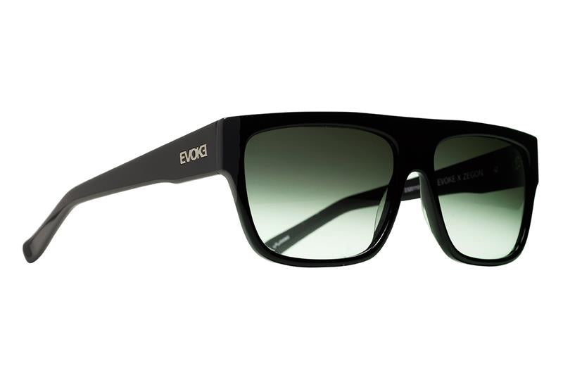 Óculos de Sol Evoke Zegon A02T Black Shine/ G15 Green Gradient - Oculos Shop