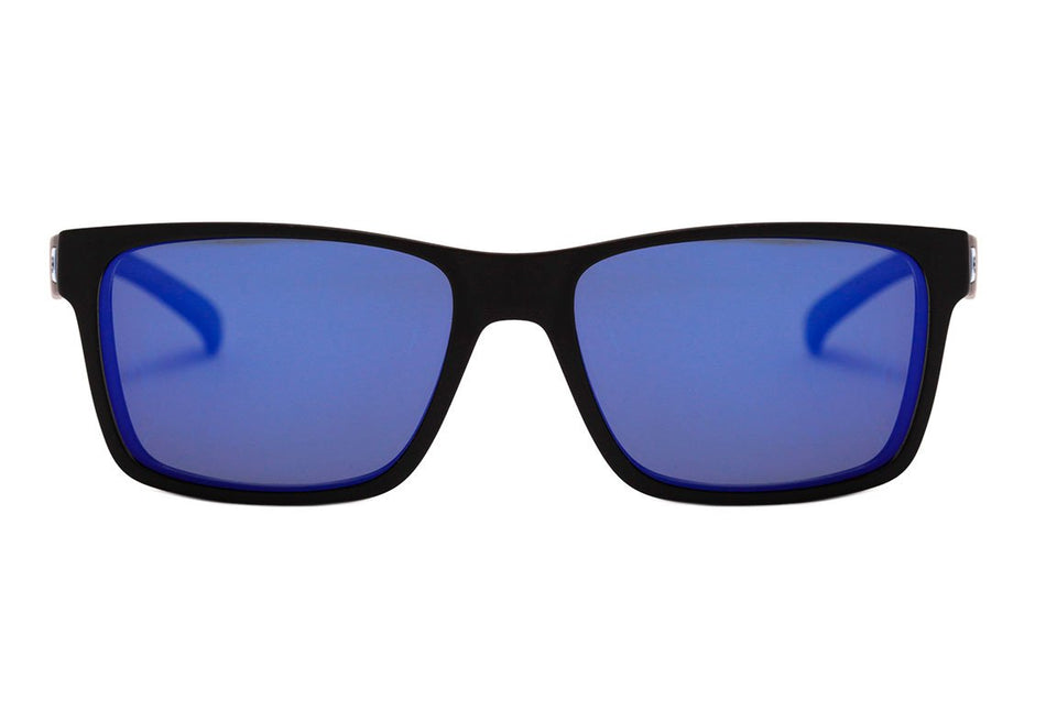 Óculos de Grau Hb 93161 Switch Clip On Matte Black/ Blue Chrome Polarized Lente 5,3 cm