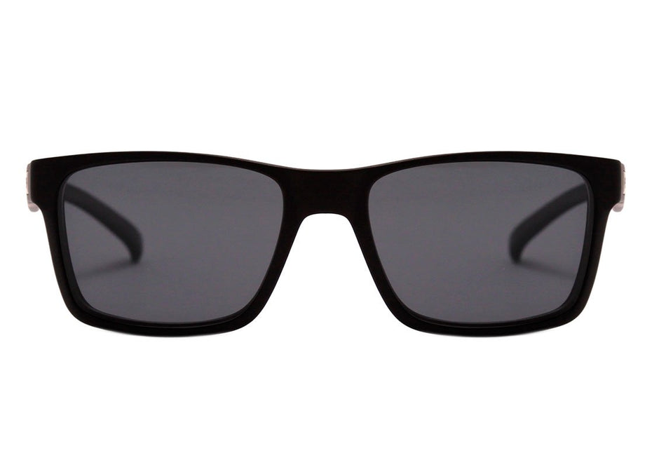 Óculos de Grau Hb 93161 Switch Clip On MATTE BLACK/ GRAY POLARIZED Lente 5,3 cm