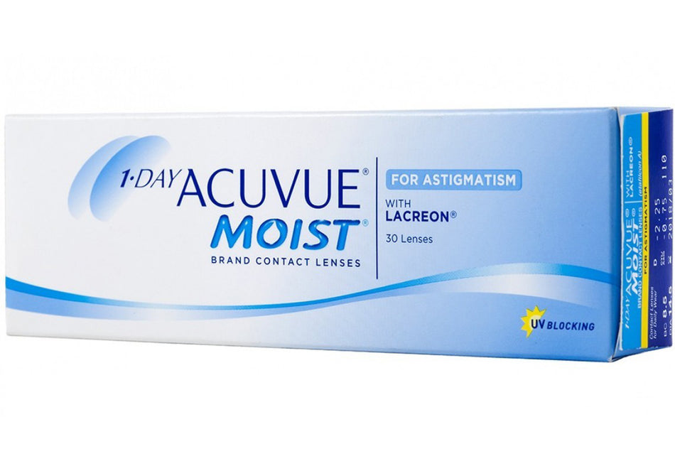 ACUVUE® 1 DAY MOIST ASTIGMATISMO - LENTE DE CONTATO JOHNSON