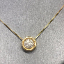 Load image into Gallery viewer, 18KT YG Round Diamond Cluster Necklace