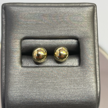 Load image into Gallery viewer, 14KT Y/G Double Ball Pierced Earrings