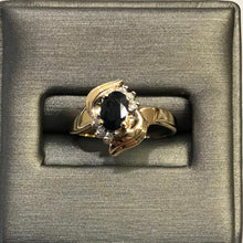 Load image into Gallery viewer, 14K Yellow/Gold Ladies Sapphire & Diamond Ring