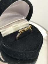 Load image into Gallery viewer, 14KT Yellow Gold Diamond Bow Tie Ring Simple & Cute