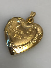 Load image into Gallery viewer, 14KT Y/G 2 Picture Heart Locket Pendant
