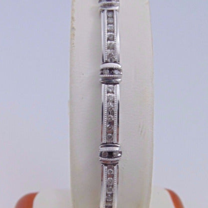 10KT White Gold Diamond Bracelet