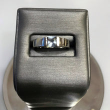 Load image into Gallery viewer, 14K Solid White Gold Princess Cut Blue Topaz Ring
