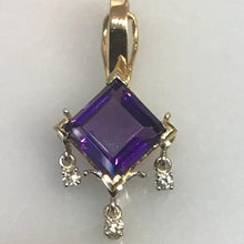 Load image into Gallery viewer, 14K Y/G Amethyst & Diamond Pendant