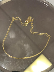 "14K Ladies Yellow Gold Cobra Link Chain 22"" Long"