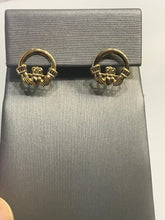 Load image into Gallery viewer, 14K YELLOW GOLD CLADDAH POST EARRINGS