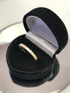 14K Yellow Gold Cubic Zirconia Infinity Band Ring