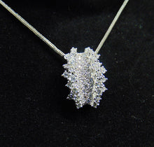 Load image into Gallery viewer, 14KT White Gold Diamond Cluster Necklace