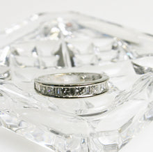 Load image into Gallery viewer, 14KT White Gold Diamond Band Princess & Baguette Diamonds