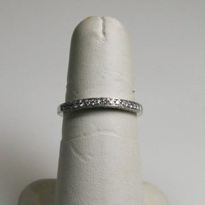 14KT White Gold Hand Set White Round Diamond Band