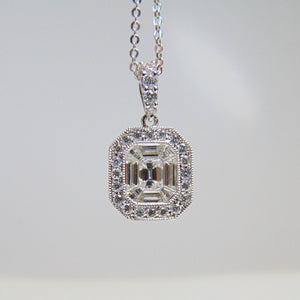 Ladies 18KT White Gold Diamond Pendant
