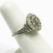 Load image into Gallery viewer, 14KT White Gold Diamond Bouquet Cluster Ring 1+ Carats