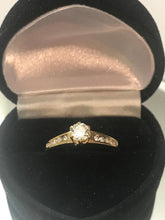 Load image into Gallery viewer, 14KT Yellow Gold Diamond Tower Engagement Ring