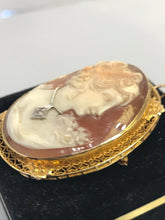 Load image into Gallery viewer, 14KT Solid Yellow Gold Antique Victorian Handcrafted Cameo Lovely Face