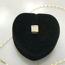 Load image into Gallery viewer, 10KT Yellow Gold Princess Cut Diamond Pendant Tic Tac Toe Pattern Square