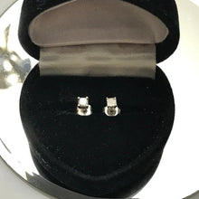 Load image into Gallery viewer, 14KT White Gold Princess Cut Diamond Stud Earrings .20 Pts.