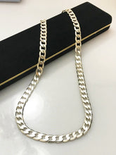 "Load image into Gallery viewer, Sterling Silver .925 20"" Solid Curb Link Necklace"