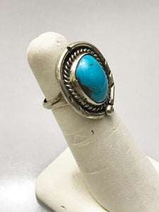 Sterling Silver .925 Genuine Turquoise Ring Size 6 1/2