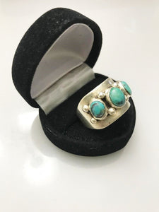 Sterling Silver .925 Turquoise Ring Man Or Woman