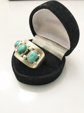 Load image into Gallery viewer, Sterling Silver .925 Turquoise Ring Man Or Woman