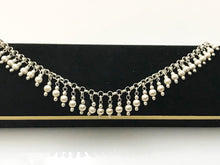 "Load image into Gallery viewer, Sterling Silver .925 Dangling Bead Bracelet Made In Italy 9"" Length"