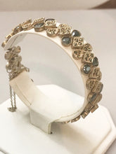 "Load image into Gallery viewer, Sterling Silver .925 Marcasite Bracelet Great For Mom 7 1/2"" Long"