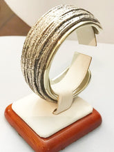 Load image into Gallery viewer, Sterling Silver .925 Designer N. S. Barron Cuff Bracelet With Gold Vermeil Trim