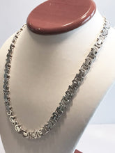 "Load image into Gallery viewer, Sterling Silver Custom Italian Link Necklace 19 1/2"" Long"