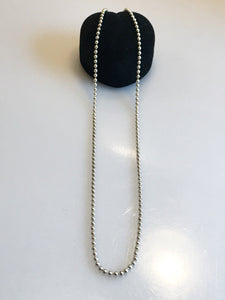 Silver .925 Ball And Solid Link Necklace Chain