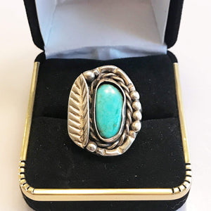 Sterling Silver .925 Native American Turquoise Ring