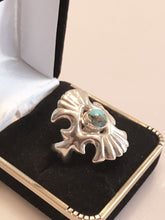 Load image into Gallery viewer, Sterling Silver Native American Turquoise Winged Ring